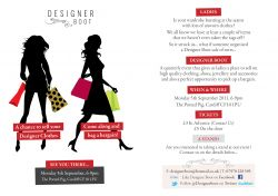 Designer Boot - A brand new event in Cardiff